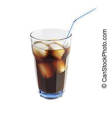 Cola mit Eis.