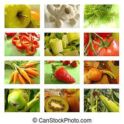 collage, ernährung, gesundes essen
