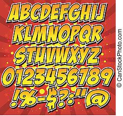Comics Stil Alphabet Sammlung se.