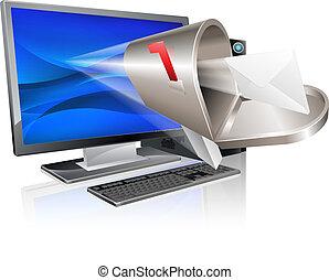 Computer-E-Mail-Botschaft