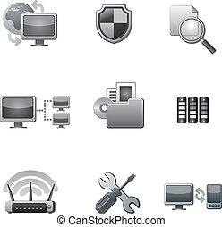 Computer-Netzwerk-Icon eingestellt.