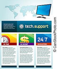 Computer-Technologie-Broschüre