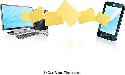 Computer-Telefondateiübertragung.