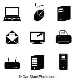 Computer- und Technologie-Icons.