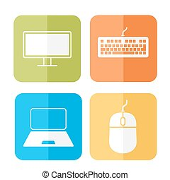 Computer verwandte Ikonen.