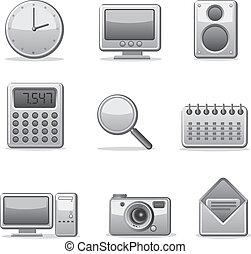 Computeranwendungen Icon Set