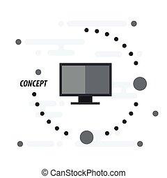 Computerkonzept schwarz.