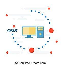 Computerkonzept-Vektor.