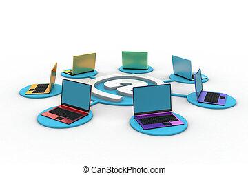 Computernetzwerk.