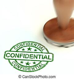 Confidential stamp concept for certify documents as top secret - 3d Illustration