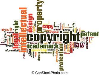 Copyright Wortwolke