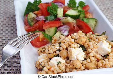 couscous, aufschließen, salat