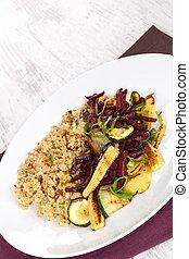 couscous, platte., köstlich