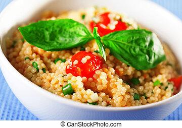couscous, salat