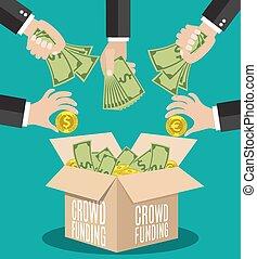 Crowdfunding Konzept Wohnung