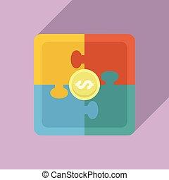 crowdfunding, stil, ikone, wohnung, puzzel