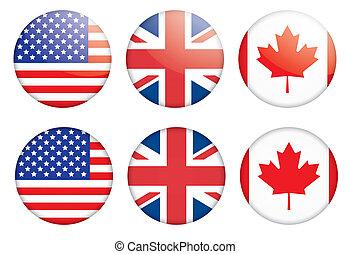 Dachse mit Flaggen