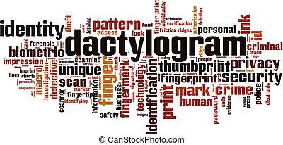 Dactylogram Wortwolke