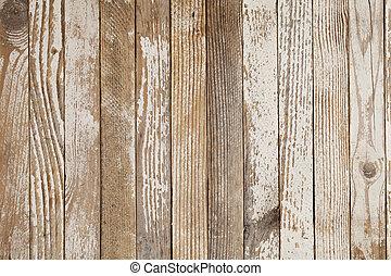 Das alte Holz war weiß