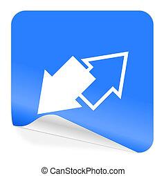 Das blaue Aufkleber-Icon.