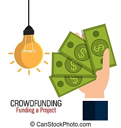 Das Design des Crowdfunding Icons.