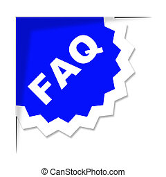 Das Faq Label stellt häufig gestellte Fragen und Ratschläge dar.