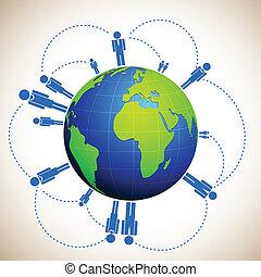 Das menschliche Netzwerk.