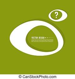 Das Symbol des Fragezeichens.