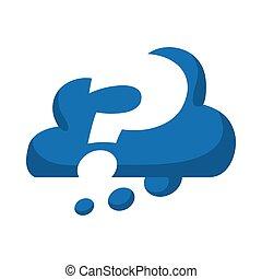 Das Symbol des Fragezeichens. Zweifelsfall. Vektorgrafik