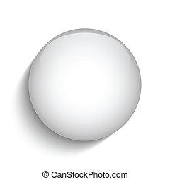 Das Symbol des weißen Glaskreises.