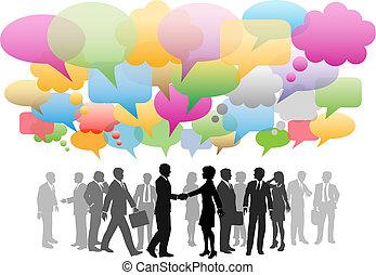 Das Unternehmens-Sozial-Medien-Netzwerk ist eine Seifenblase