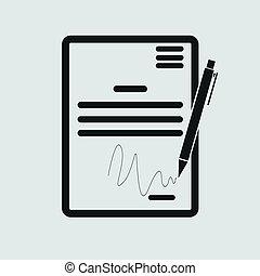 Das Vertragssymbol. Abkommen und Unterschrift, Pakt, Abkommen, Symbol des Konvents