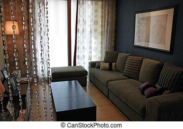 Das Wohnzimmer in einem neuen Haus