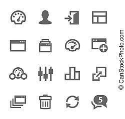 Dashboard-Icons eingestellt.