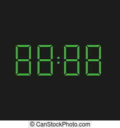 datum, zahlen, hintergrund, grün, elektronisch, vier, uhr, wiederholen, acht, achtzig, ?, schwarz, 88:88