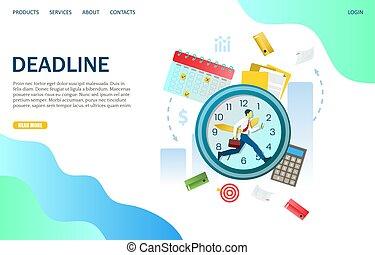 Deadline Vektor Website Landing Page Design Vorlage