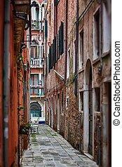 Deatil alte Architektur in Venedig.