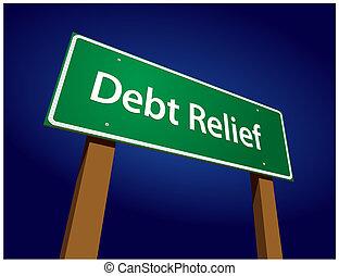 Debt-Entlastungs-Grünezeichen-Vektor Illustration