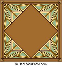 deco, kunst, verzierung, quadrat