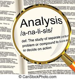 definition, studieren, untersuchen, ausstellung, analyse, prüfen, vergrößerungsglas, oder