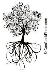 Dekorationsbaum, Vektor illustriert