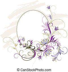 Dekorationsrahmen mit Blumenschmuck