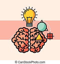 Denk an kreative Ideen.