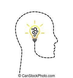 Denken Konzept