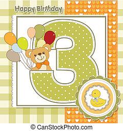 Der dritte Jahrestag der Geburtstagskarte