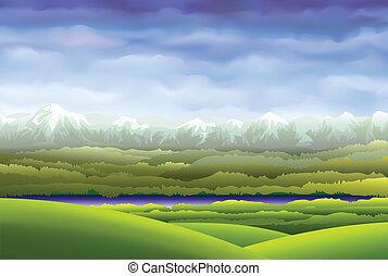 Der Himmel über den Bergen.