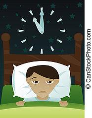 Der Kleine hat Schlaflosigkeit