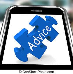 Der Rat auf Smartphone zeigt Führung