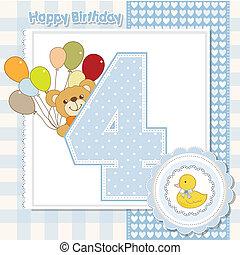 Der vierte Jahrestag der Geburtstagskarte