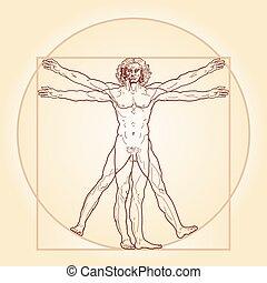 Der vitrukanische Mann (Homo vitruviano)